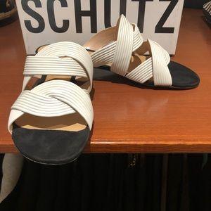 Brand new Schutz leather sandals